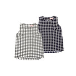 【4659】check blouse