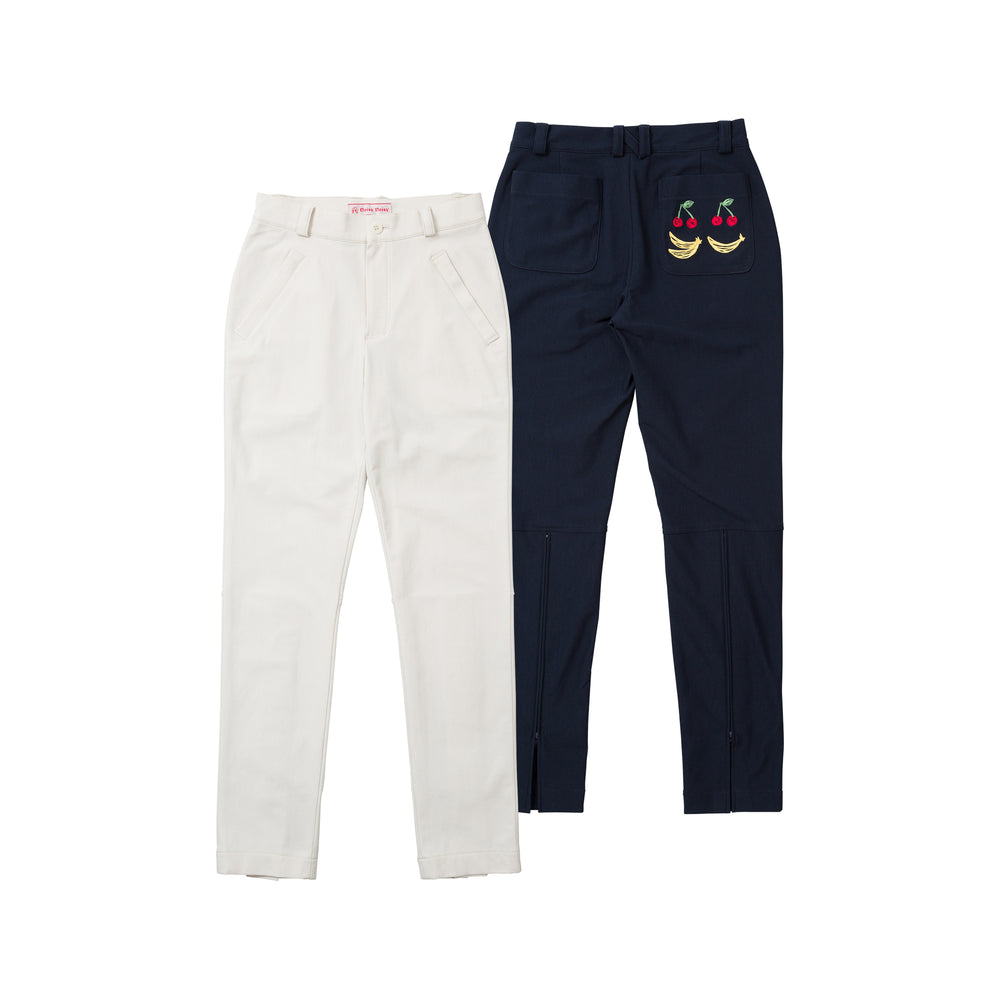 new【5877】Back switching straight pants