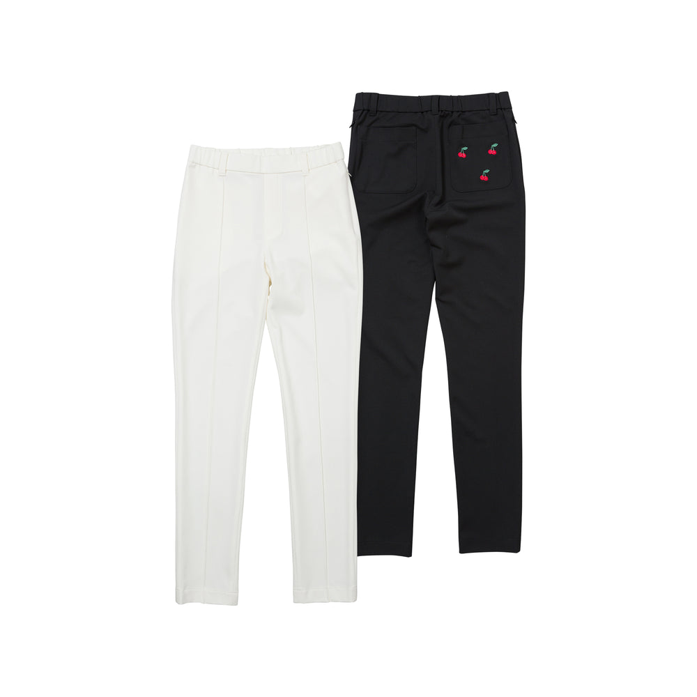 new【5870】 Cherry embroidery straight pants