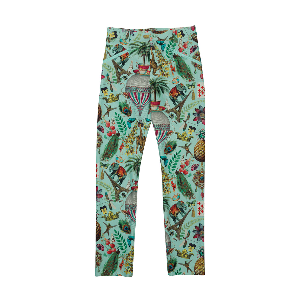 new【5878】stretch circus pattern pants