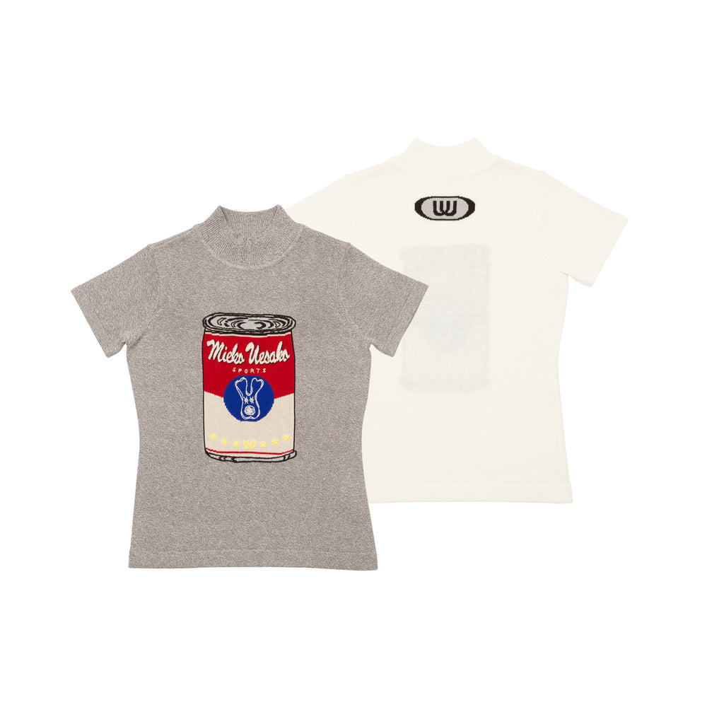 【20MSS-01】Soup can short sleeve summer knit