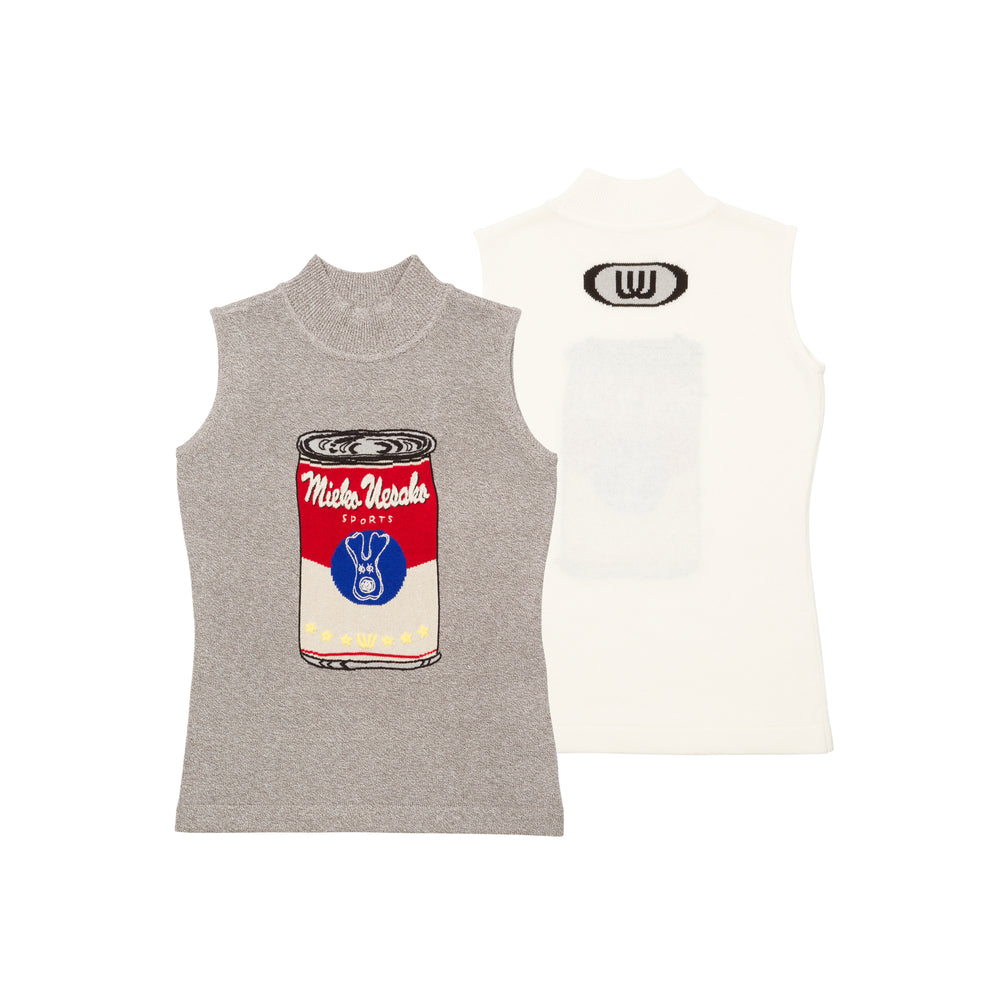 【20MSS-02】soup can sleeveless summer knit