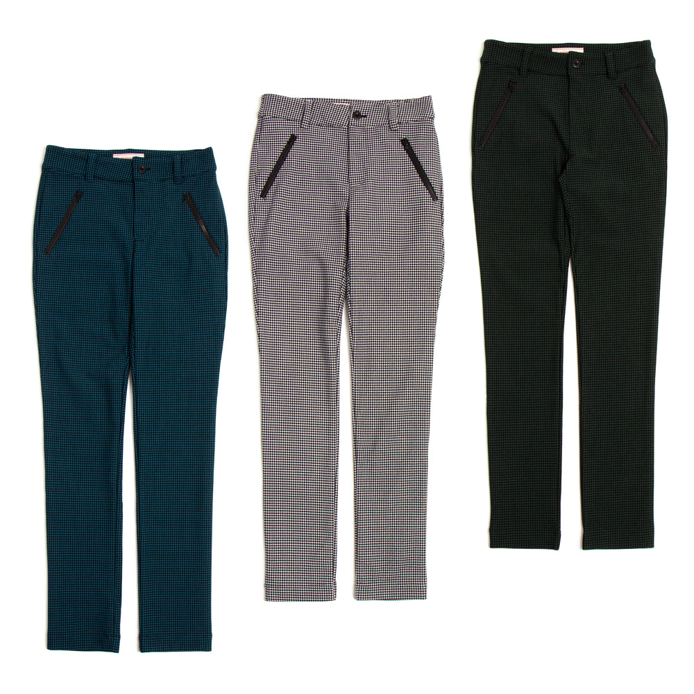 【5833】one room at a file Form staggered straight pants(30%OFF)