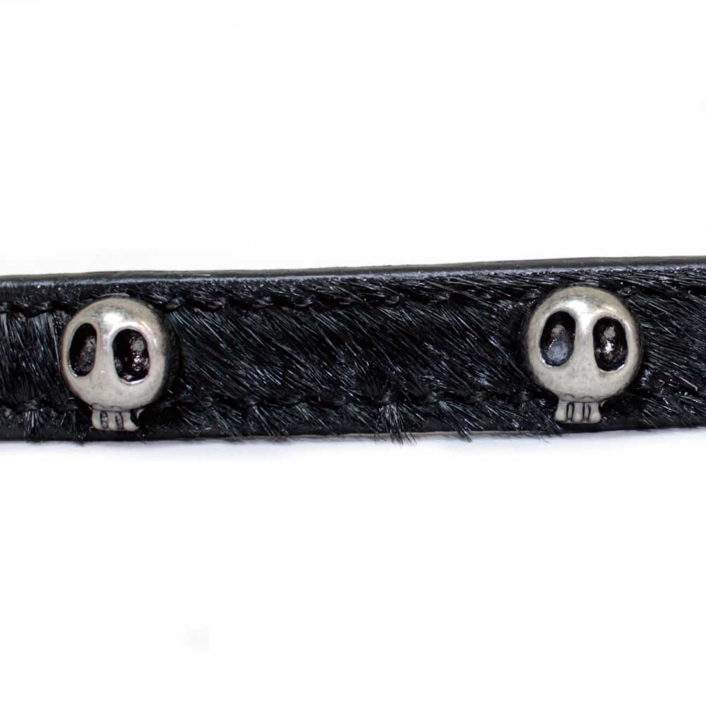 Skeleton studs collar (plain fabric Harako material)