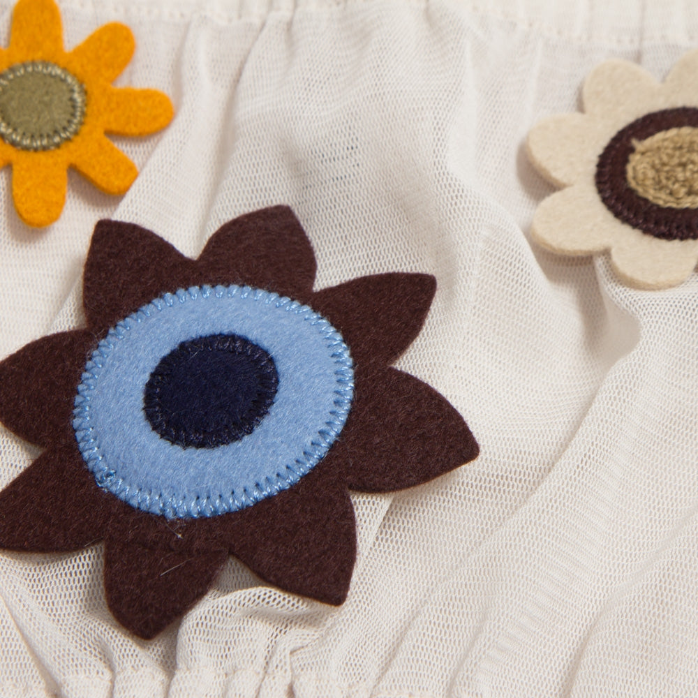 [22242-B] snood with flower patch