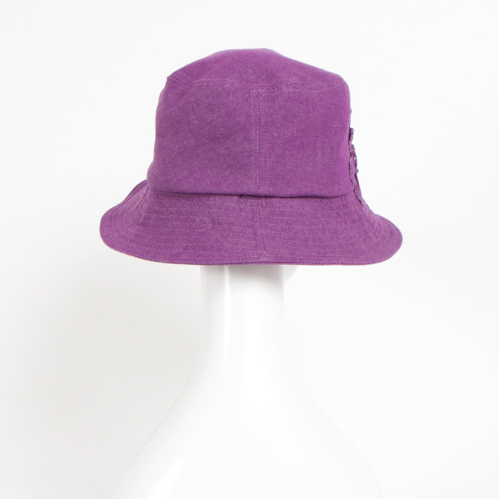 【HAT-S344-PPL】ヴァイレットデニムハット(30%off)