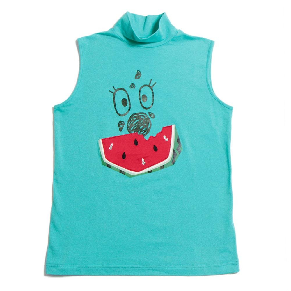 【80116】Noisy & Watermelon Pattern Sleeveless Pullover