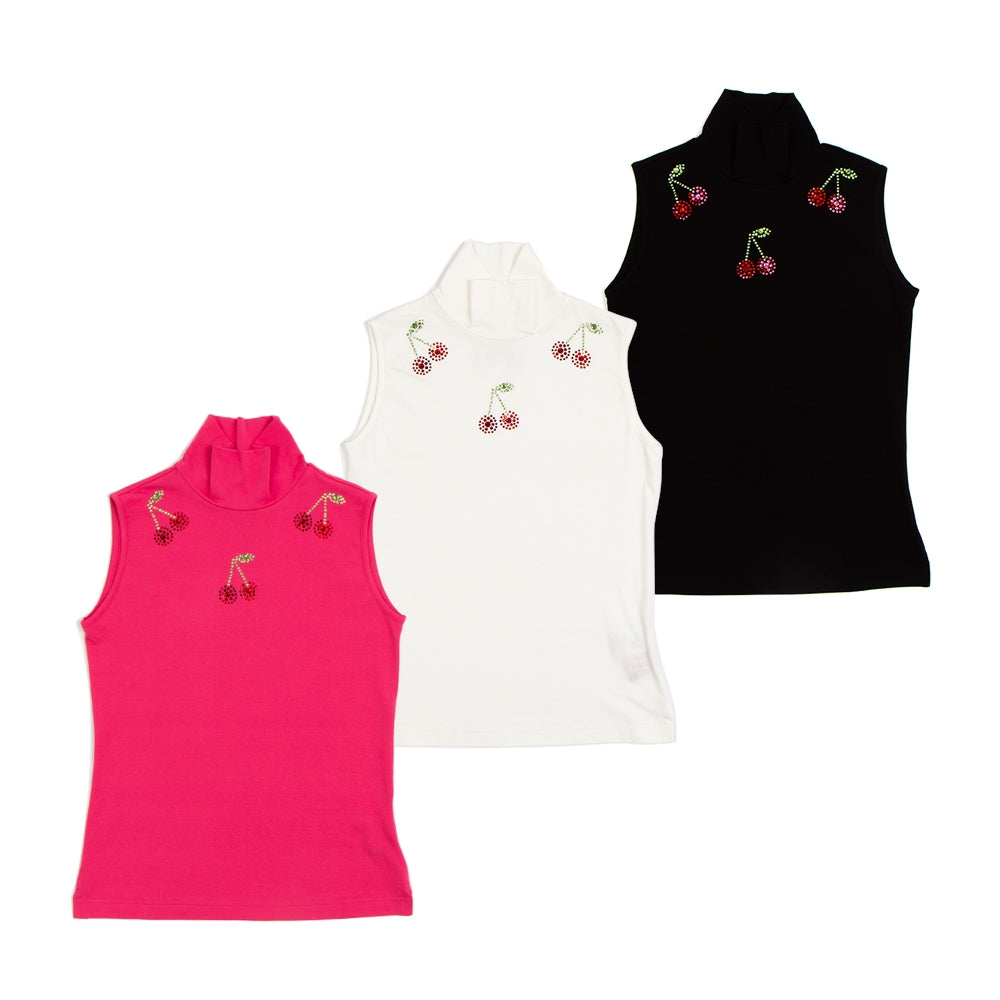 【80435】Swarovski cherry sleeveless pullover