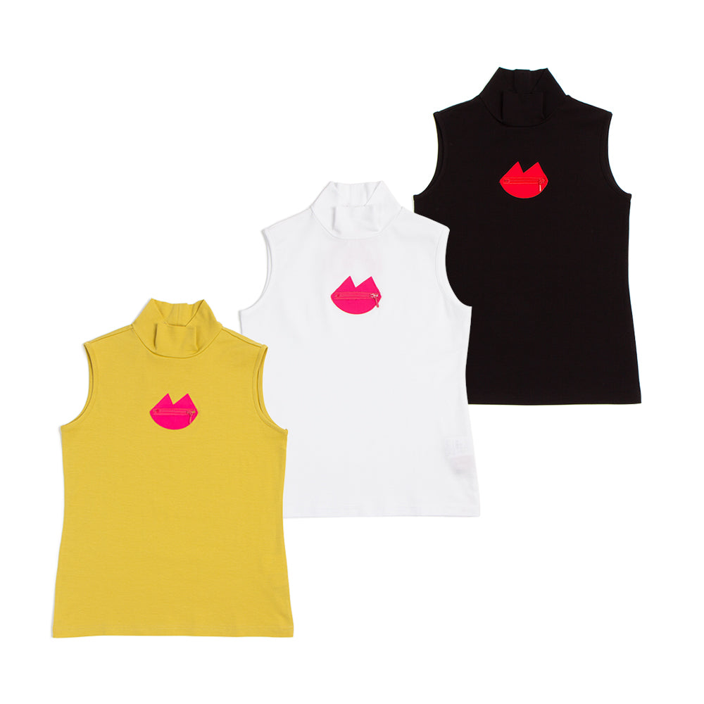 【80560】lip motif sleeveless pullover