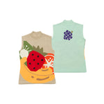 【80596】Fruit sleeveless summer knit