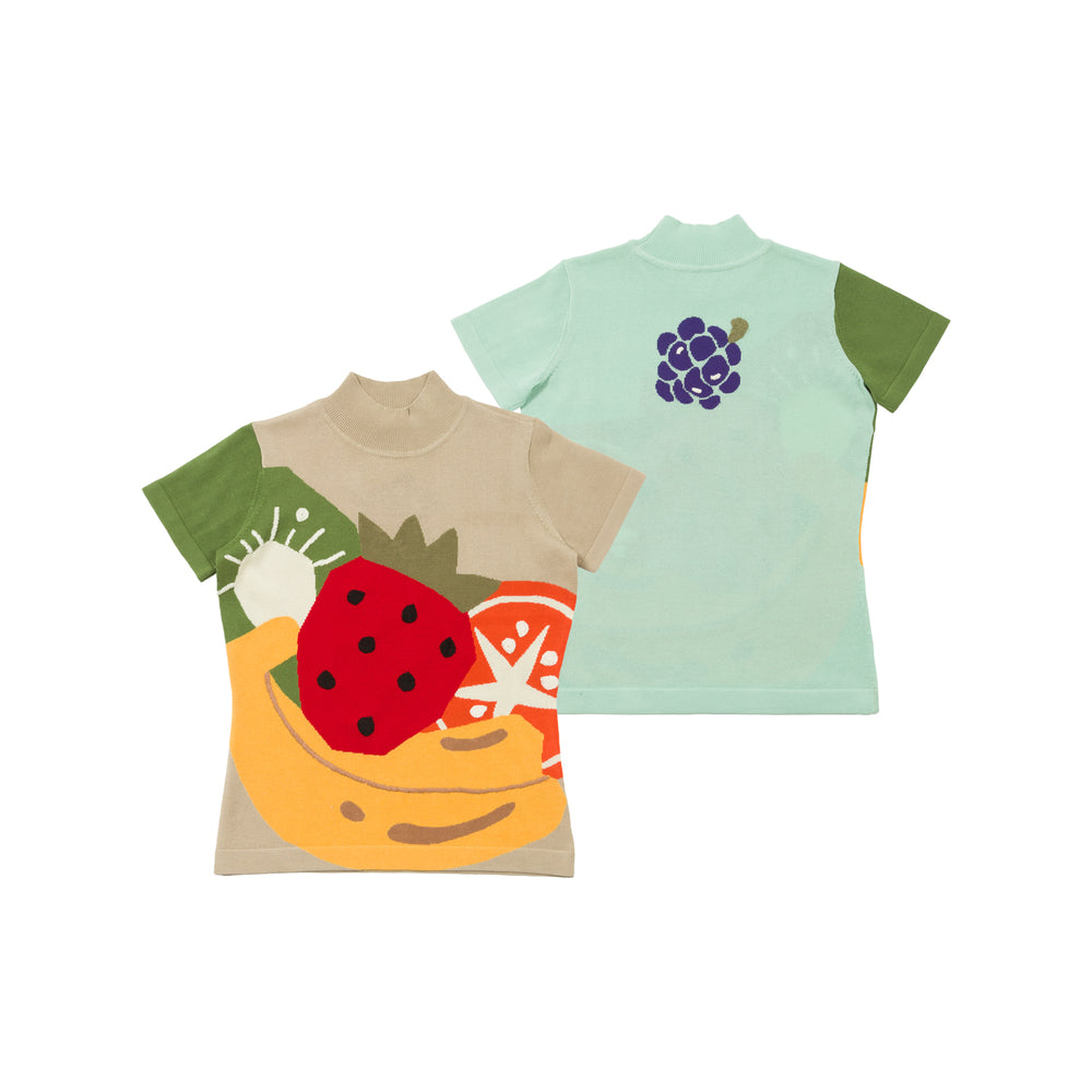 【80597】Fruit short sleeve summer knit