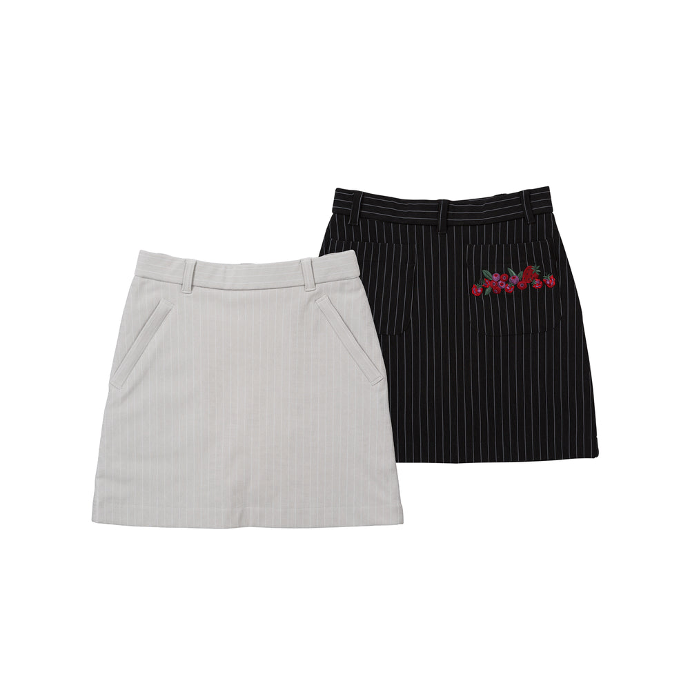 new【6663】Pencil striped skirt