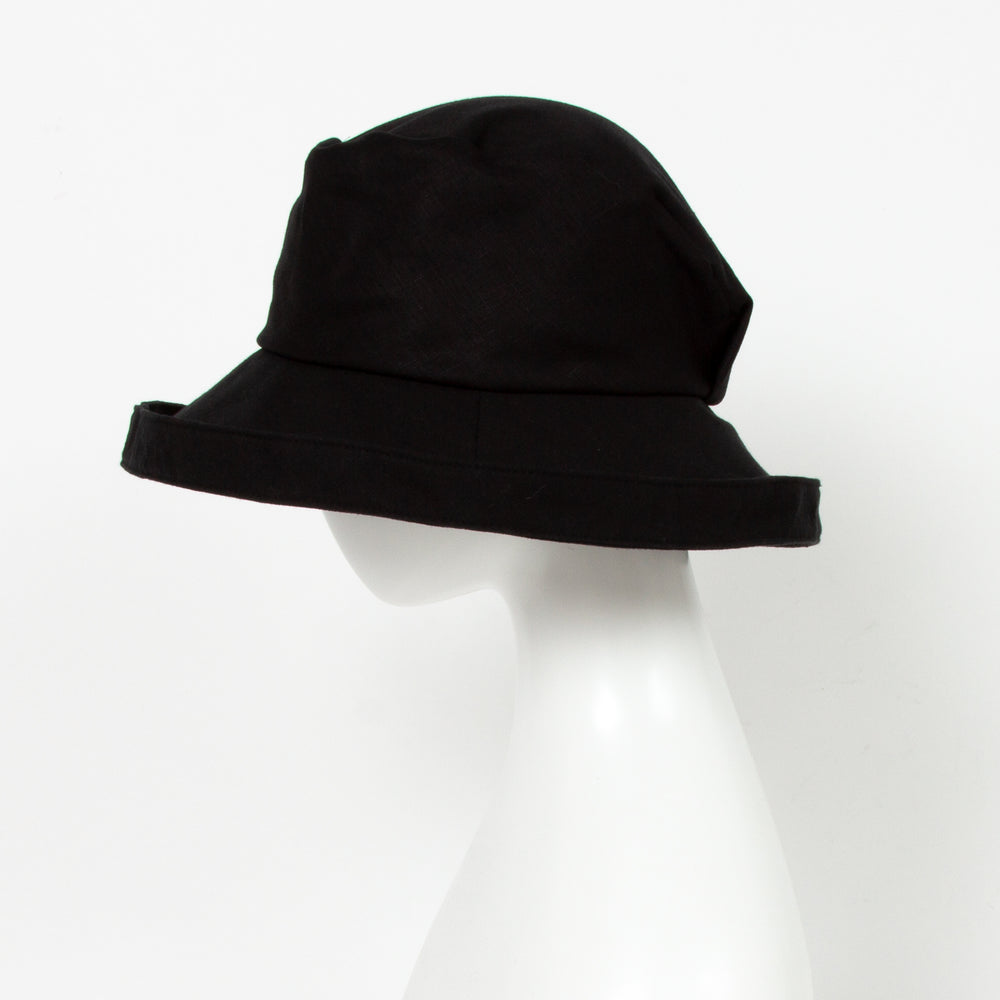 【O-S0071-BLK】麻ハット