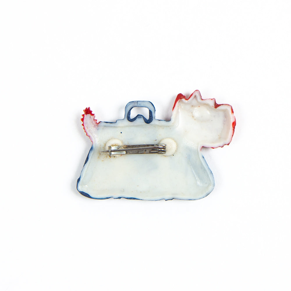 Bag terrier brooch