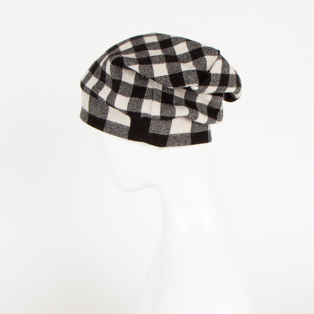 [HAT-362] knit hat of block check (30% OFF)