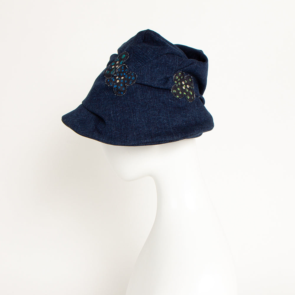[O-S0016] Denim deformation hat