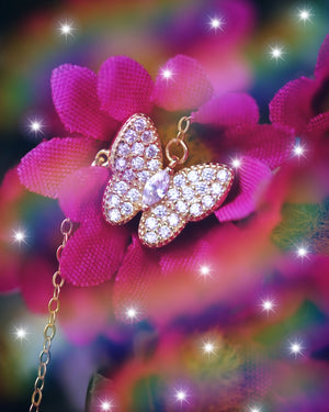 Magnolia Butterfly Necklace - Wonderland L'atelier