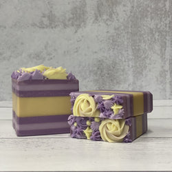 Lemon and Lavender Three Butter Coconut Milk Soap
