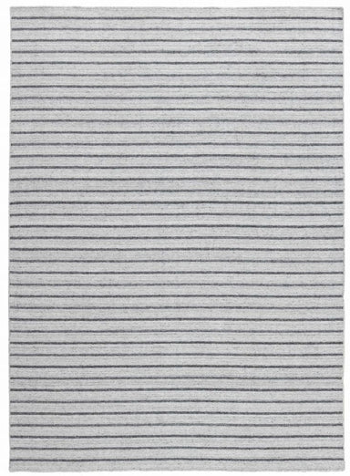 Scandinavisch vloerkleed - Nouveau Stripes – CHP-16-01, Silver/Dark Grey (Black)