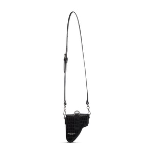 Black Leather Multi Purpose Mini Bag
