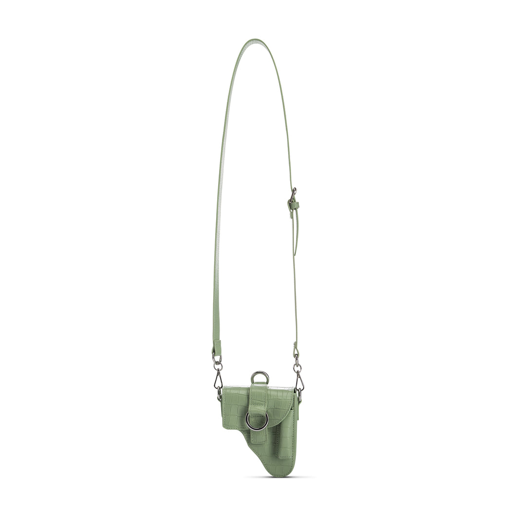 Mint Leather Multi Purpose Mini Bag