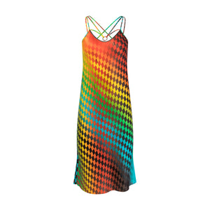 Dark Rainbow Slip Dress