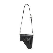 Load image into Gallery viewer, Black Leather Multi Purpose Bag