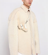 Load image into Gallery viewer, Back in Stock* Cream Shearling Leather Multi Purpose Mini Bag