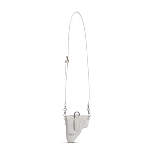 White Leather Multi Purpose Mini Bag