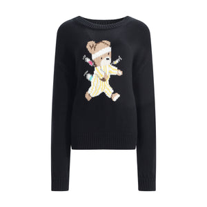Runaway Bear Sweater - Black