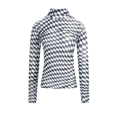 PXL Checker Mesh Top