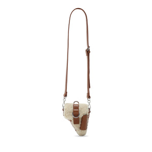 Back in stock* Brown Shearling Leather Multi Purpose Mini Bag
