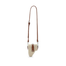 Load image into Gallery viewer, Back in stock* Brown Shearling Leather Multi Purpose Mini Bag