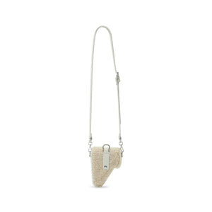 Back in Stock* Cream Shearling Leather Multi Purpose Mini Bag
