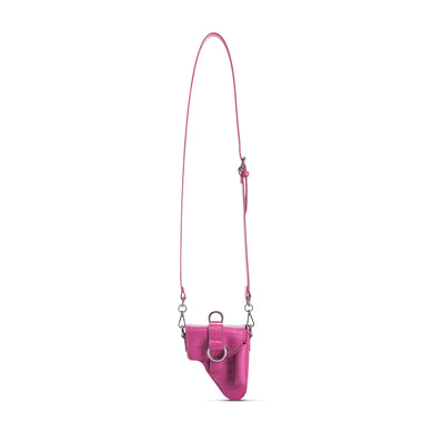 Pink Leather Multi Purpose Mini Bag