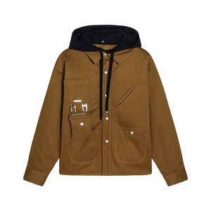 Puffer Work Jacket with Hood
