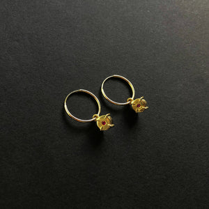 Small Medallion Hoops
