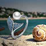 Mermaid Tail Adjustable Finger Rings for Women