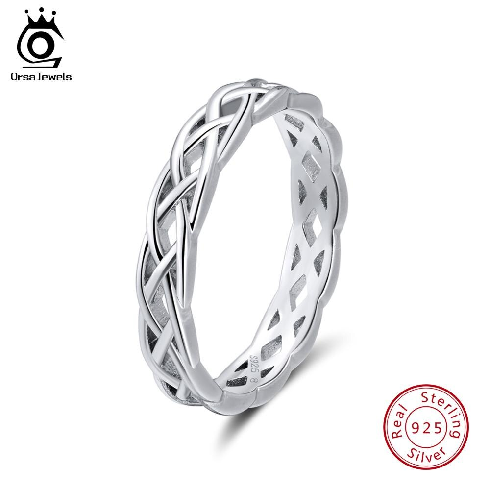 Sterling Silver Unique Twisted Shape Round Ring