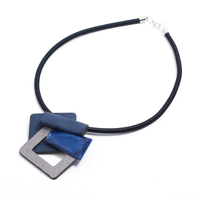 Leather Resin Necklace Pendants