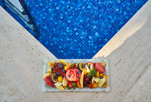 Fruits at the Corner of a Pool
