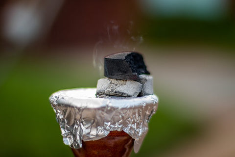 Clay Hookah Bowl With Foil and Coal