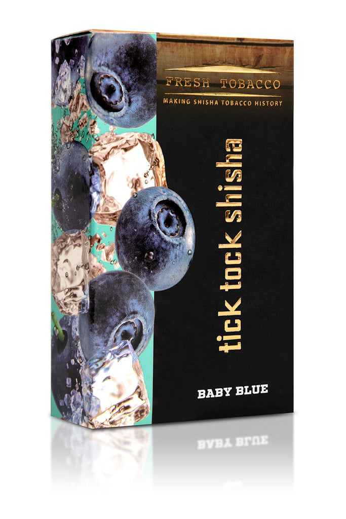 BABY BLUE-Ice Blueberry - Tick Tock Shisha USA