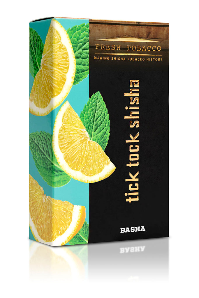 BASHA-Lemon Mint - Tick Tock Shisha USA