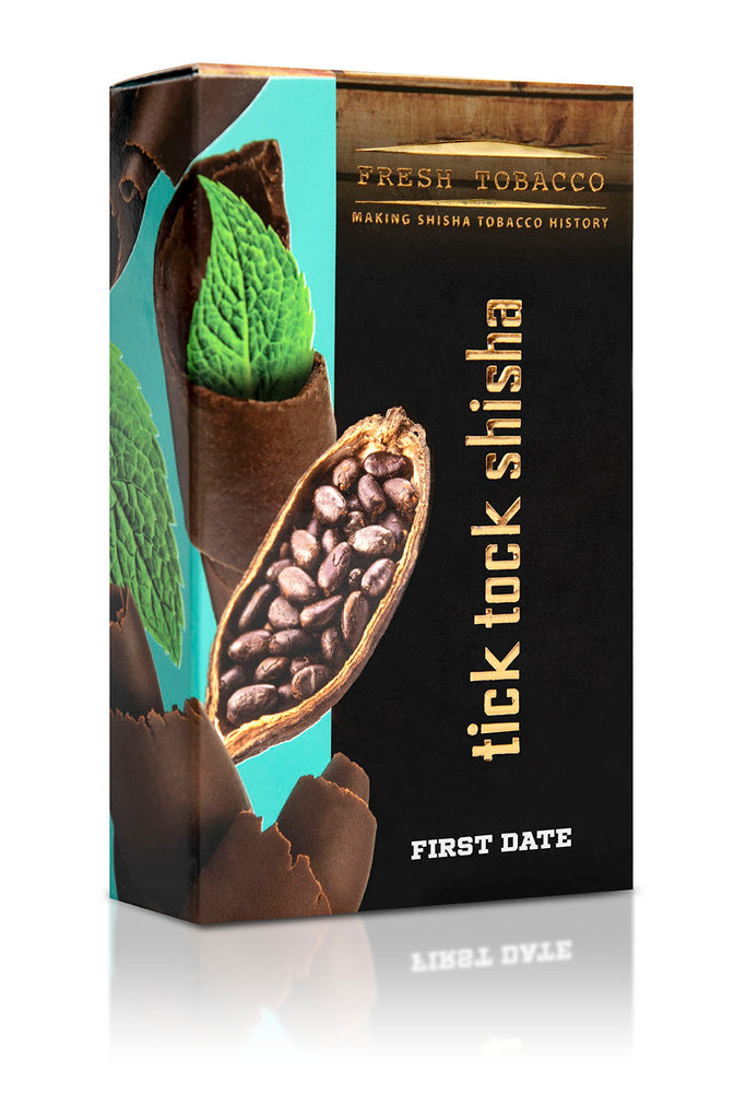 FIRST DATE-Chocolate Mint - Tick Tock Shisha USA