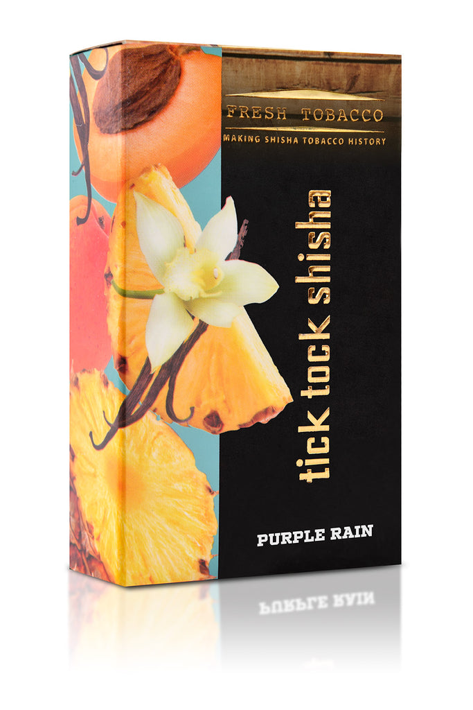 PURPLE RAIN-Pineapple Vanilla Apricot - Tick Tock Shisha USA
