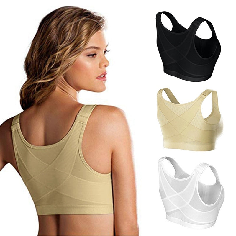 Posture Corrector + Lift Up Bra for Women with Cross Back for Support