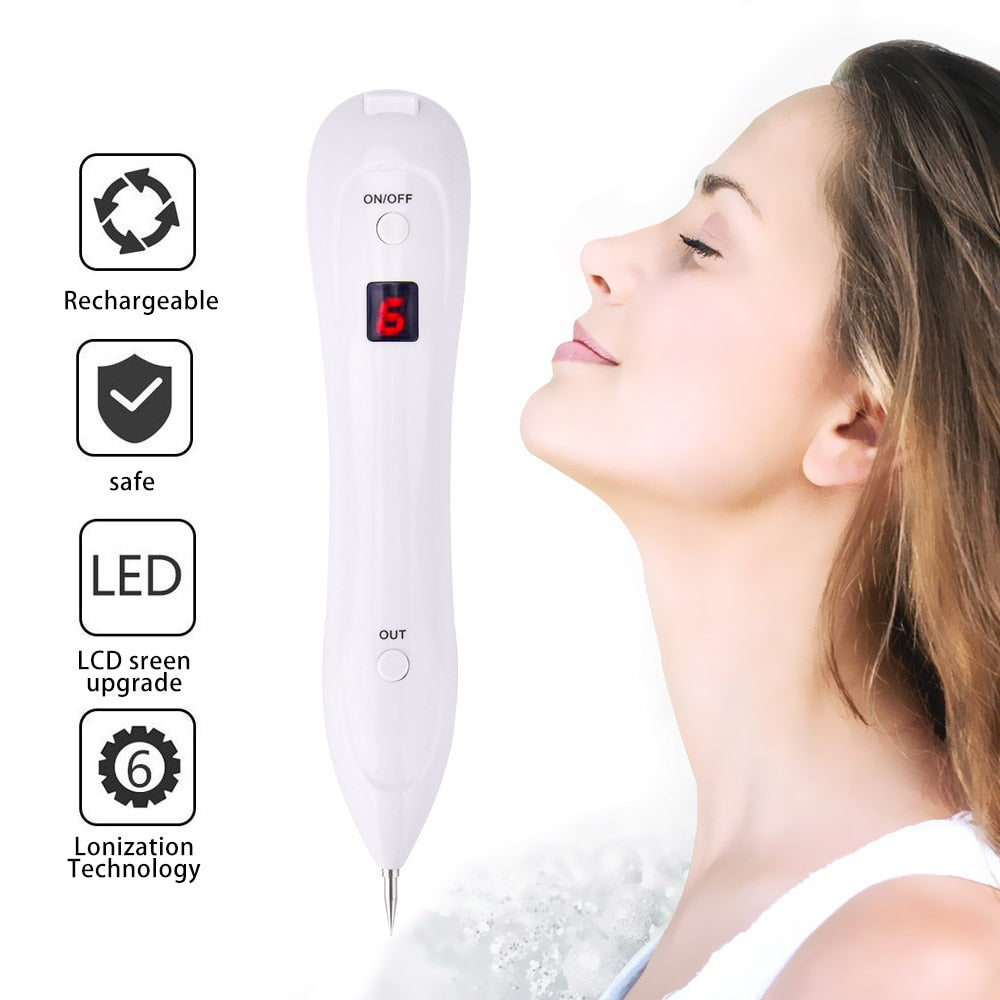 Laser Mole Removal Pen, Remove Freckle, Warts, Dark Spots. Skin Care Salon Beauty Machine