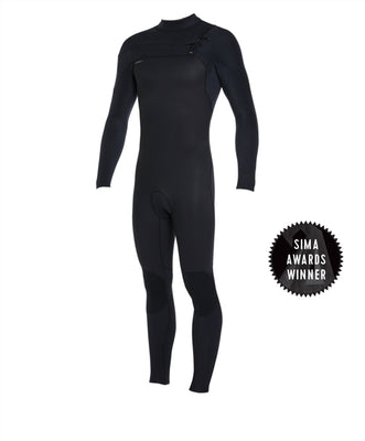 WETSUIT HOMBRE - LARGO - HYPERFREAK FULL FUZE 4/3+mm - A00 BLK/BLK - INVIERNO 2020