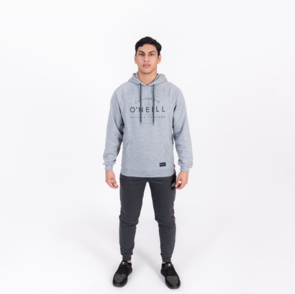 POLERON HOMBRE - LM ONEILL HOODIE - SILVER MELEE - INVIERNO 2020